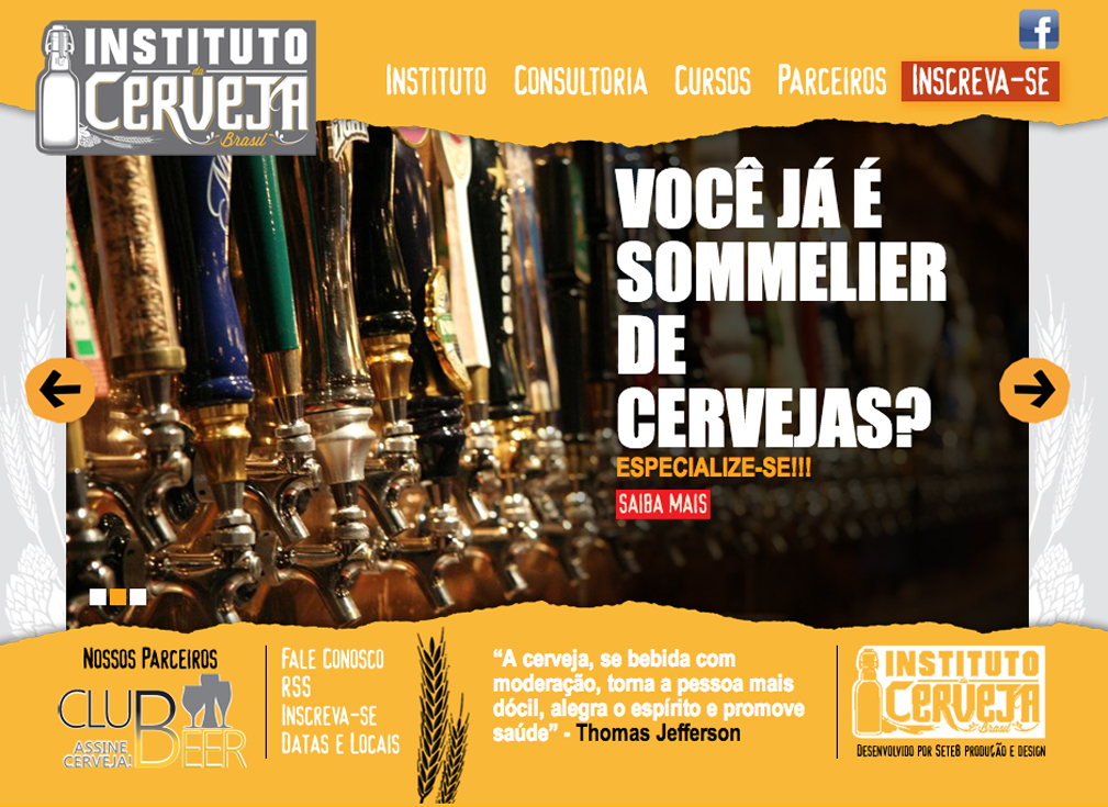 Site Instituto da Cerveja Brasil