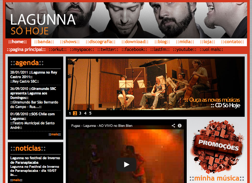 Site da Banda Lagunna