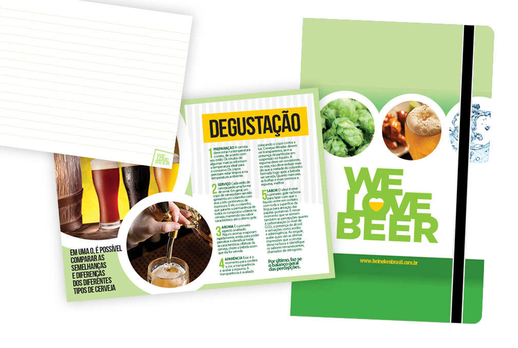 Criação Moleskine Heineken – We Love Beer / WTrends