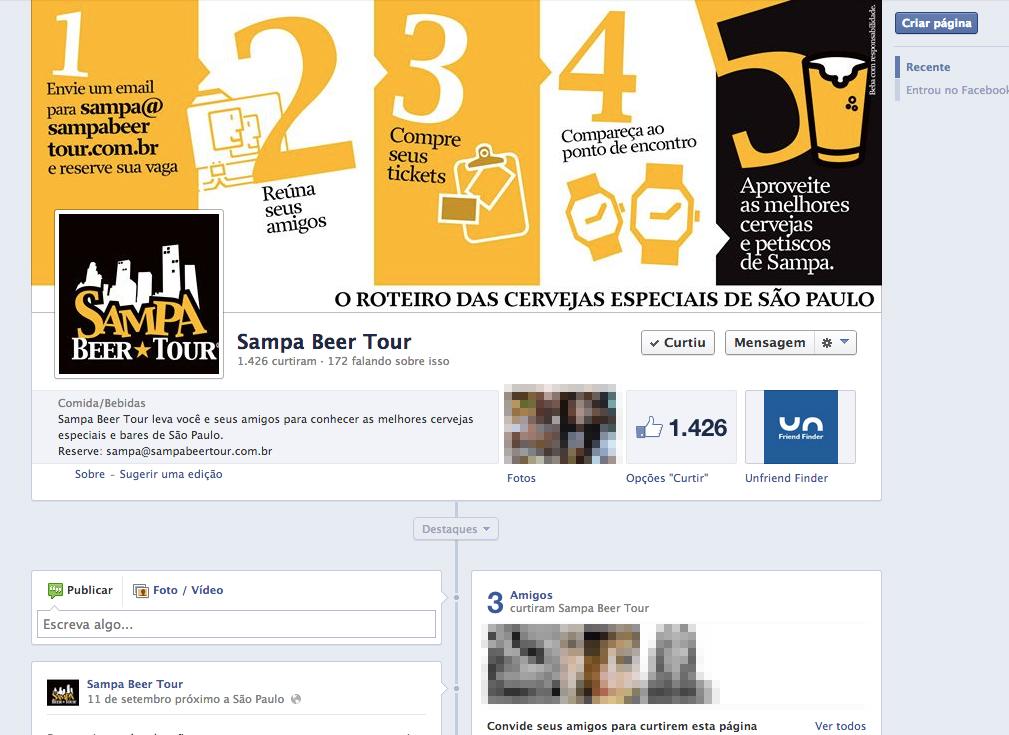 Sampa Beer Tour / Personalização de Redes Sociais